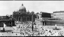 1909 The Vatican, St. Peters, Rome Vintage Panoramic Photograph