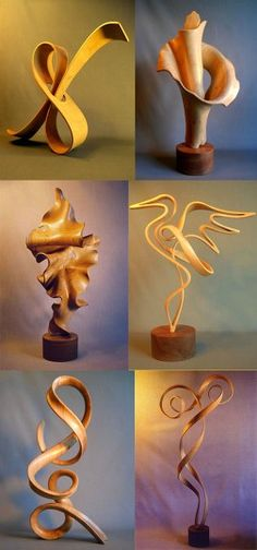 California wood sculptor JOHN MCABERY lives and works on the rugged Lost Coast… Wood Projects, Woodworking Projects, Steam Bending Wood, How To Bend Wood, Curved Wood, Bent Wood, Furniture Repair, Wood Laminate, Picture On Wood
