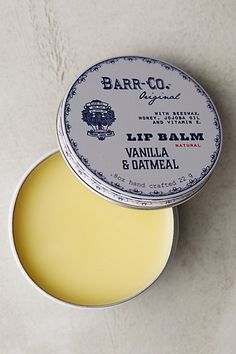 vanilla & oatmeal lip balm / barr-co.