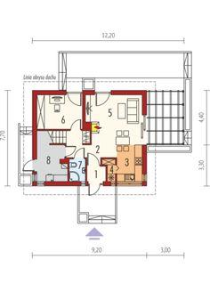 Lea (wersja A): Parter Planer, Floor Plans, Architecture, Villa, Houses, Home Plans, Projects, Arquitetura, Architecture Design