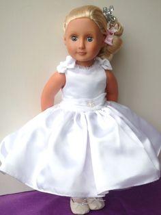 Wedding,Communion dress.18 dolls clothes,Cayla, Our Generation, American girl