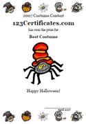 Certificate template certificate design free certificates free printable halloween certificates halloween cards jack o lantern awards certificate maker yelopaper Choice Image
