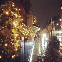 Christmas decorations outside Claridge's