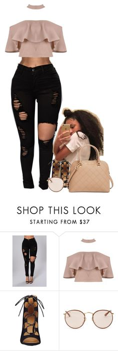 """B* I Know You Know "" by muvaaliyah ❤ liked on Polyvore featuring Nine West, Ray-Ban and MICHAEL Michael Kors"