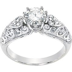So beautiful, it's probably the only time I've really loved a ring in white gold.