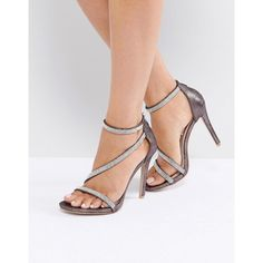Miss KG Sparkle Strap Sandal ($79) ❤ liked on Polyvore featuring shoes, sandals, silver, wedge heel sandals, high heel wedge sandals, strap sandals, strappy wedge sandals and strappy high heel sandals
