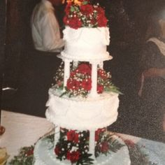 July 1992? Wedding cake I did for my cousin.