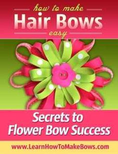 Learn to make Flower Hair Bows for Babies