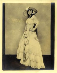 Rosa Ponselle, opera singer, as Violetta. Her voice is amazing and I sang in the Rosa Ponselle competition in Maryland when I was a teen. Great experience.