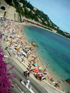 Villefranche - just one of the many beaches we visited in SOUTH OF FRANCE