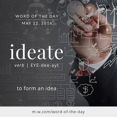 Ideate. The root origin of this word is Latin. It comes from the Latin word idea. Ideate......