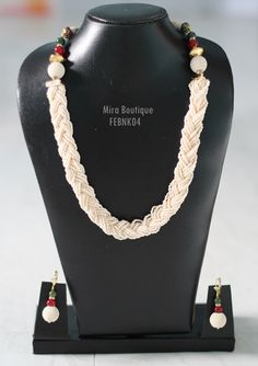 Get beautiful #pearl #necklace #jewellery set online with #craftshopsindia