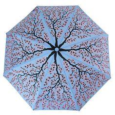 Leighton Manhattan Blue/Pink Cherry Blossom Umbrella