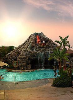 Favorite Resort: Disney's Polynesian Resort Pool, via Flickr.
