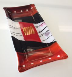 Fused Glass Tray --Glassateria