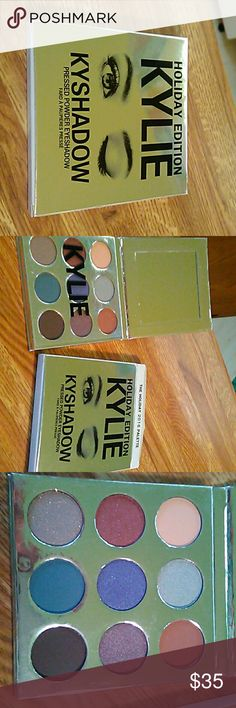 Kylie eyeshadow 2016 Holiday Palette Beautiful 9 Eyeshadow Palette. 5 shimmery shadows along with 4 others. Ordered and just never used. Getting a little old for shimmer shadows. New in box. No trades please. Kylie Cosmetics Makeup Eyeshadow