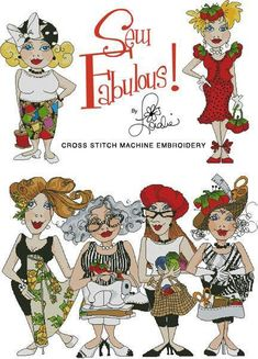 Sew Fabulous Cross Stitch Embroidery Design by loraliedesigns, $59.00