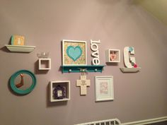 DIY Yarn Wrapped Letters, Baby Room, Decor