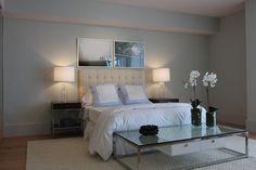 Chic, contemporary bedroom design in powder blue. Discovered on www.Porch.com #interiors #design #interiordesign #decor #bedtime