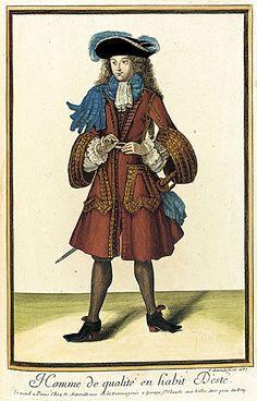 """""""Homme de qualité en habit D'esté"""", Nicolas Arnoult, 1687; LACMA M.2002.57.107"""