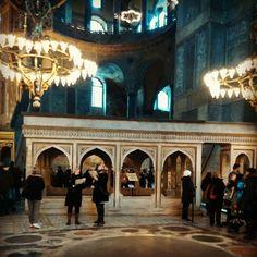istanbul 아야소피아 무아딘의 자리