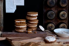 Gingerbread Sandwich Cookies with Truvia | My Baking Addiction