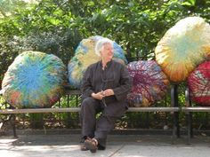 """""""Textiles had been relegated to a secondary role in our society, to a material that was either functional or decorative. I wanted to give it another status and show what an artist can do with these incredible materials."""" -Sheila Hicks in a 2004 interview Textile Sculpture, Textile Fiber Art, Textile Artists, Soft Sculpture, Fabric Painting, Fabric Art, Artist Art, Artist At Work, Textiles"""