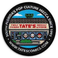 TATES Comics 8-bit Patch #lauderdale #comics
