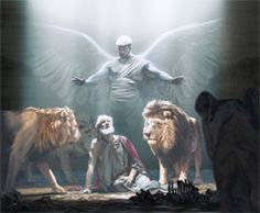 """My own God sent his angel and shut the mouth of the lions.""—Daniel 6:22"