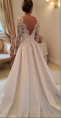 Vintage Lace Bridal Gowns Spring Wedding Dresses With Long Sleeves Custom Size