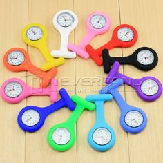 12 Colors 1Pcs Fashion Silicone Brooch Tunic Fob Pocket Nurse Watch Watches □