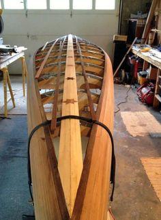 Mystic River Canoe Wood Canoe, Wooden Kayak, Canoe Trip, Canoe And Kayak, Kayak Fishing, Canoa Kayak, Make A Boat, Kayak Boats, Wooden Boat Building