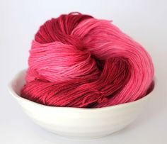 MCN Sock Yarn - Hand Dyed - Merino Cashmere - Santa Rosa Plum by ClementineAndThread on Etsy