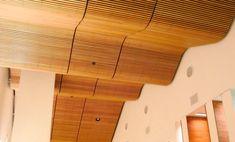 particolare controsoffitto in legno