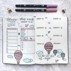Bullet Journal, inspiration for weekly layout Bullet Journal Banners, Bullet Journal 10, Agenda Bullet, Bullet Journal Spreads, Minimalist Bullet Journal, Bullet Journal Themes, My Journal, Bullet Journal Inspiration, Journal Ideas