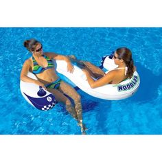"""SportsStuff Noodler 2 -at Walmart.  This is great for my hubby and me while in the pool/ocean -and u can use a """"noodle"""" or small swim board  to keep your legs propped up so your legs get tanned too. Has great beer holders as well! :-)"""