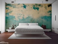 Papeles pintados murales: paisaje de nubes
