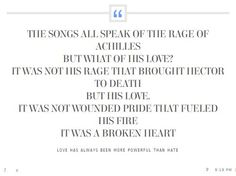 song from achilles quotes
