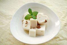 Tofu Dessert, Feta, Panna Cotta, Almond, Cheese, Ethnic Recipes, Sweet, Desserts, Reading