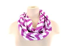Radiant Orchid Purple White Chevron Infinity by FashionDesigns4U