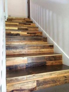 Creating the repurposed wood pallets stairs is an inexpensive idea to decorate as well as fulfill the requirement of the new home. It is better to paint the pallets with the shiny finish to make it look attractive; the brown and black combination looks unique.