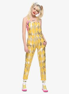 Hot Topic : Her Universe DC Comics Birds Of Prey Harley Quinn Boobytrap Battle Overalls Harley Quinn Disfraz, Harley Quinn Cosplay, Birds Of Prey, Birds 2, Yellow Birds, Glass Birds, Black Canary, Harley Quinn Tattoo, Girls Bomber Jacket