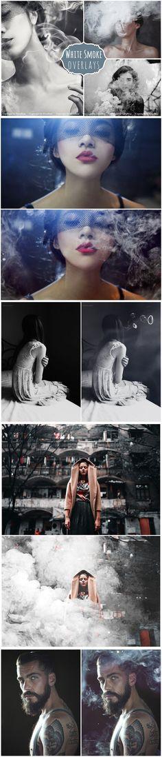 40 Smoke Photoshop Overlays. Photoshop Layer Styles. $8.00