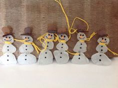 SALE Save Five Dollars 6 beach glass snowman by MossBetweenMyToes