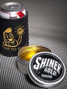 Shiner Gold Pomade. Snapped a few shots, trying it today for the first time. Came with a snazzy beer cozy :D
