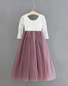 Princess Tulle Dress with Dusky Skirt and Lace Detail – Ruffles Baby Fall Fashion, Fall Fashion 2016, Blush Flower Girl Dresses, Little Girl Dresses, Lace Romper, Tulle Dress, Chic Outfits, Trendy Outfits, First Birthday Outfits