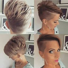 *** Can we convince you how super cool, tough and beautiful short hairstyles really are?
