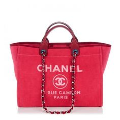 CHANEL Canvas Large Deauville Tote Red ❤ liked on Polyvore featuring bags, handbags, tote bags, tote handbags, zipper tote, zippered canvas tote, canvas zip tote and handbags totes