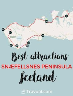 Best attractions Snæfellsnes Peninsula. Complete road book. #FreeTravelGuides