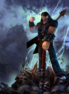 Brutal Legend!! A funny game, don't take it too seriously xP it's all just fun.
